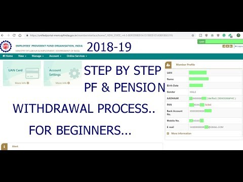 PF withdrawal process online Form-19 & Form10c step by step complete withdraw process