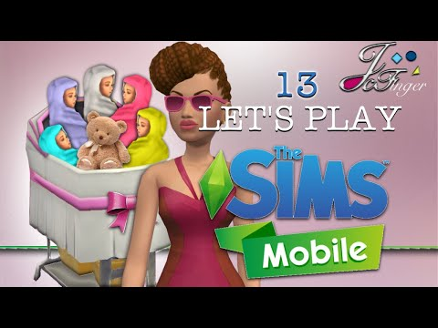 The Sims Mobile | LET'S PLAY | PART 13 | 👶🏼👶🏽👶🏻👶🏾 100 BABY CHALLENGE + 💰💰💰 Glitch!
