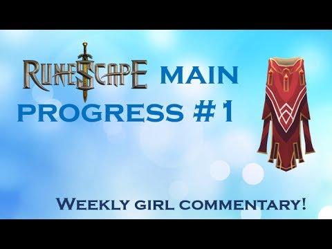 Runescape 2007 [OSRS] - Main progress episode 1 (girl commentary)