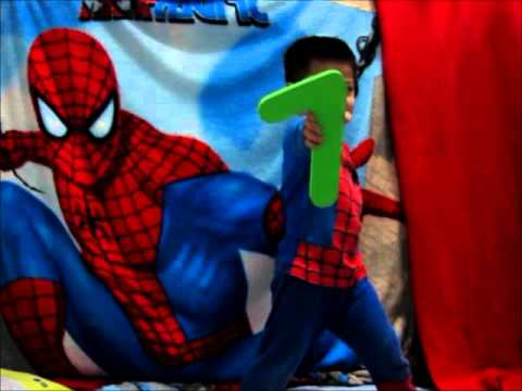 Learning Numbers 123 with spiderboy
