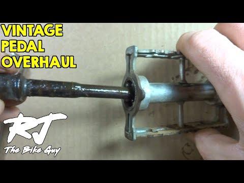 How To Overhaul Vintage Schwinn/Atom 440 Bike Pedals - Clean/Lube/New Bearings