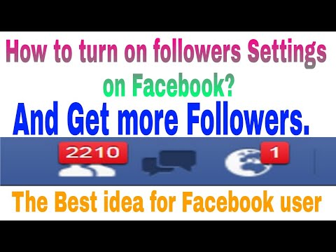 How to turn on followers on Facebook.|| How to change followers settings on facebook