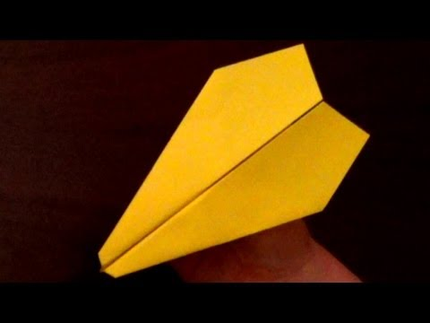 Fast flying Paper Airplane Tutorial