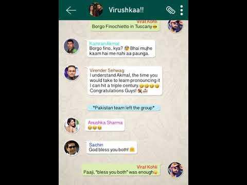 Virat and Anushka whatsapp group chat is hilarious