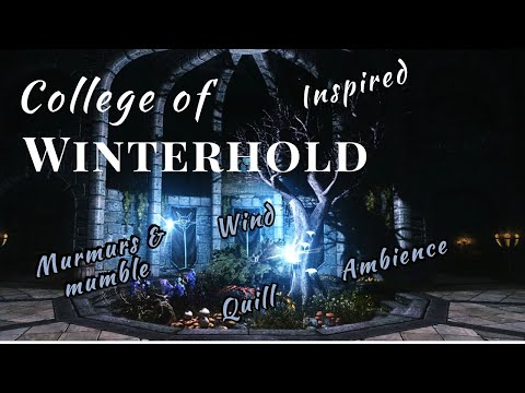 ❄ Skyrim: College of Winterhold Inspired Ambience | 1 hour | For Studying or as Background Noise ❄