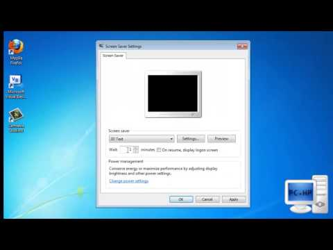How To Get or Change Windows 7 Screen Saver