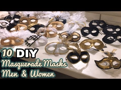 DIY: 10 Masquerade Mask tutorials for Men and Women | Easy and Quick DIY
