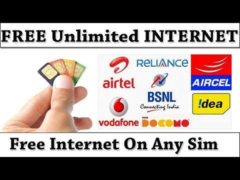 Free Internet On Any Sim || Hindi || Airtel Free internet,Idea Free Internet,voda Free Intenet,data,