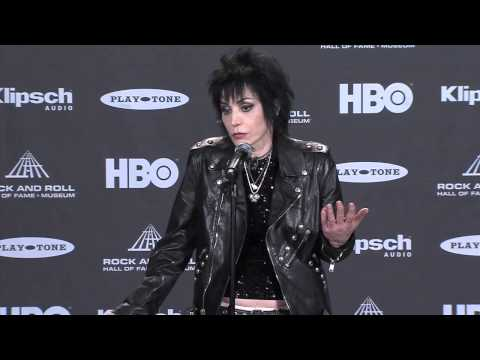 Backstage With Joan Jett At The Rock And Roll Hall Of Fame Inductions