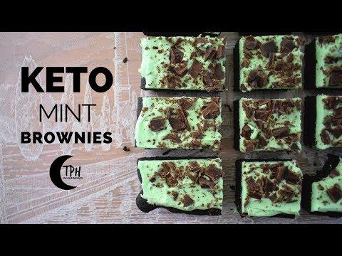 Keto Mint Brownies | Low-Carb Mint Chocolate Brownie Recipe
