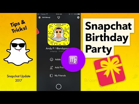 How to Turn On Snapchat Birthday Party