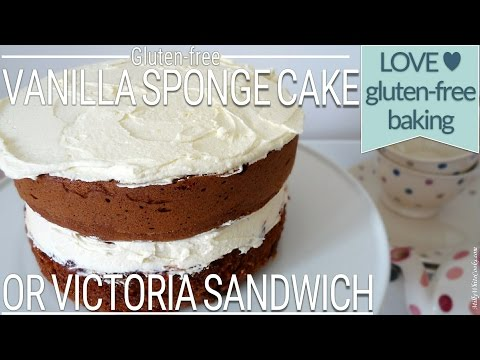 Vanilla Victoria Sponge Cake | Gluten-Free Baking | Easy Step-by-Step How to Make Recipe