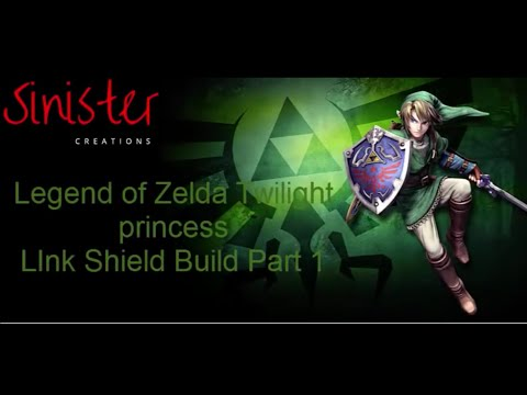 Zelda Twilight Princess link Hylian Shield Cosplay Build part 1 - Sinister Creations Cosplay
