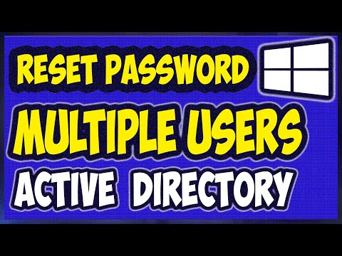 Powershell to change password for Multiple Users in Active Directory Domain Services