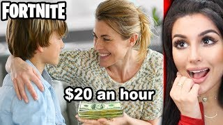 KIDS GET PAID BY PARENTS TO PLAY FORTNITE