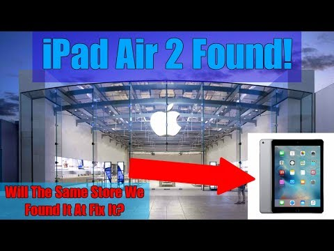 BRINGING IPAD APPLE THREW AWAY BACK TO APPLE STORE! Found iPad Air 2 Dumpster Diving At Apple Store!