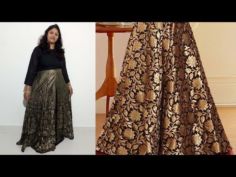 4 Kali long skirt Drafting, Cutting and Stitching for One Piece Dresses