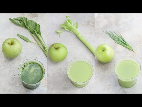3 Green Apple Vegetable Juices For Beginners | Detox, Glowing Skin, Weight Loss