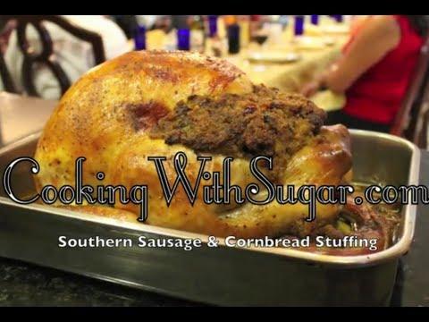 Thanksgiving Turkey Stuffing - Southern Sausage Cornbread Stuffing Recipe