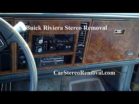 Buick Riviera Stereo Removal