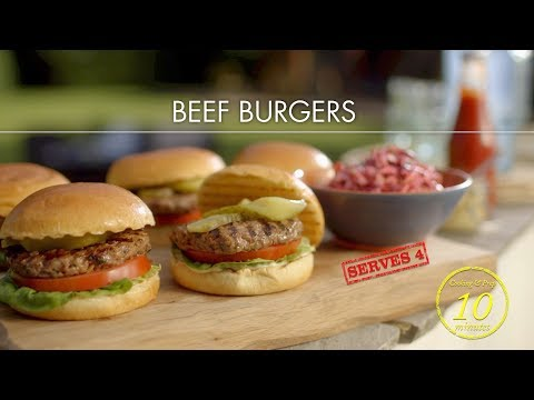 Deliciously easy beef burgers - Classic Mary Berry - BBC One