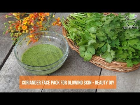Coriander Face Pack To Clear Acne - Beauty Remedy | Bowl Of Herbs
