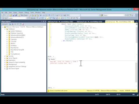 Display Line Numbers in SQL Server Query Editor Window [HD]