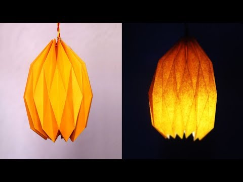DIY Paper Lamp/Lantern | How to make Pendant Light with paper