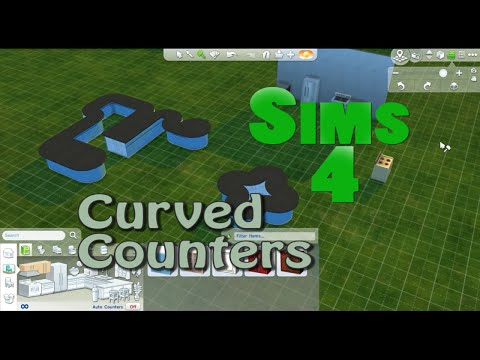 SIMS 4 How To: Curved & Rounded Counters
