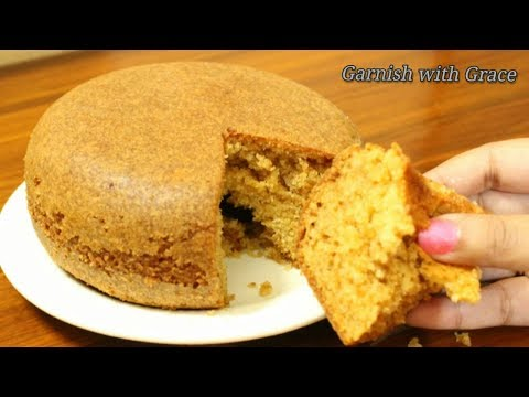 Eggless Vanilla Cake in pressure cooker - Christmas Special