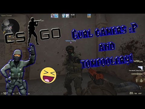 CSGO - Crazy Girl Gamers Messing around - Funny Tomfoolery - Friends First 16-0!