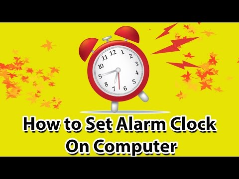 how to set alarm clock on computer