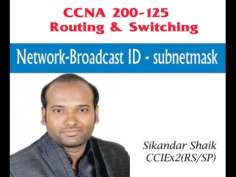 Network-Broadcast ID- Subnetmask - Video By Sikandar Shaik || Dual CCIE (RS/SP) # 35012