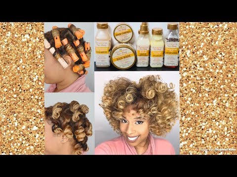Review/Demo of Creme of Nature Pure Honey Line/50k Giveaway Closed
