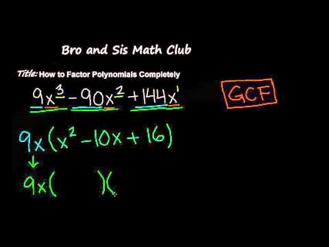 How to Factor Polynomials Completely - Algebra I