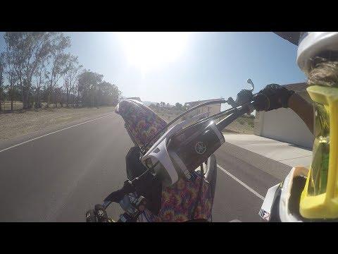 2017 yz450f wheelies and desert riding