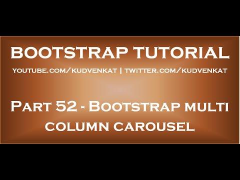 Bootstrap multi column carousel