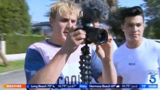 Jake Paul and TEAM 10 TERRORIZE Neighbors, Taunt Local News | What