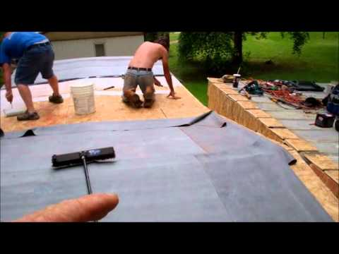 Little Washington NC Mobile Home Repair Installing a rubber roof over
