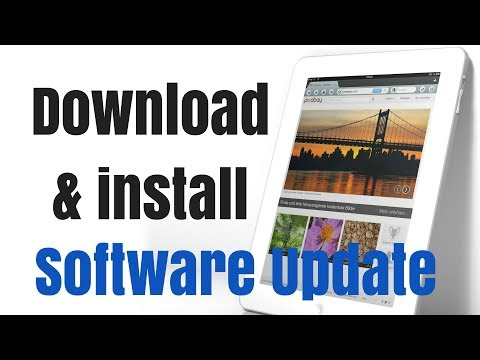How to download and install a software update on the iPad