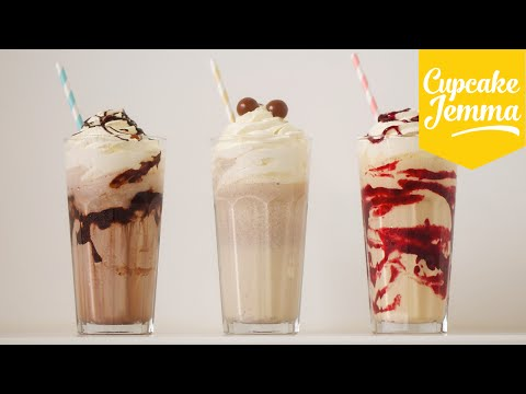 The Perfect Thick Milkshake PLUS 3 ways to PIMP it!  | Cupcake Jemma