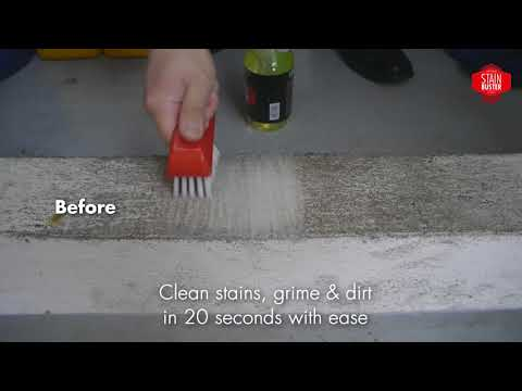 Stain Buster cleaning floor