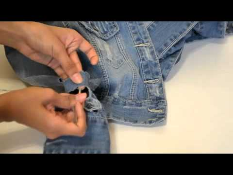 DIY - DISTRESSING A JEAN JACKET