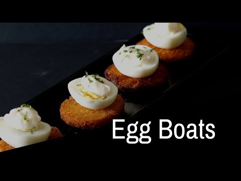 Egg Boats -  quick and easy Egg Snacks - Kids Special