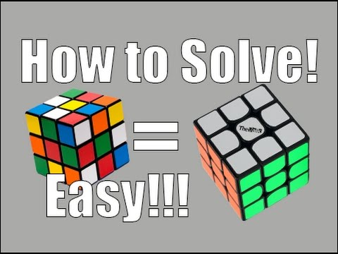 How to Solve a 3x3x3 Rubik's Cube: Easiest Tutorial (The White Cross)