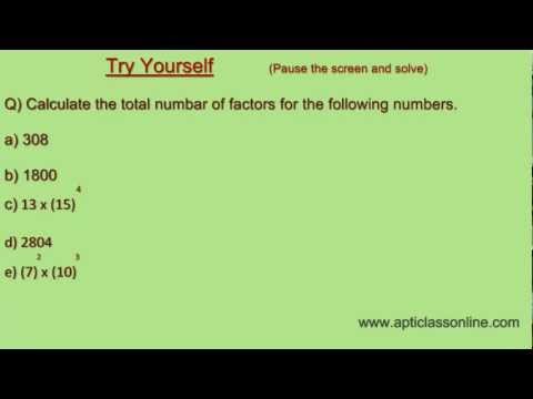 Finding Number of Factors of any Natural Number - Simple and Easy Trick