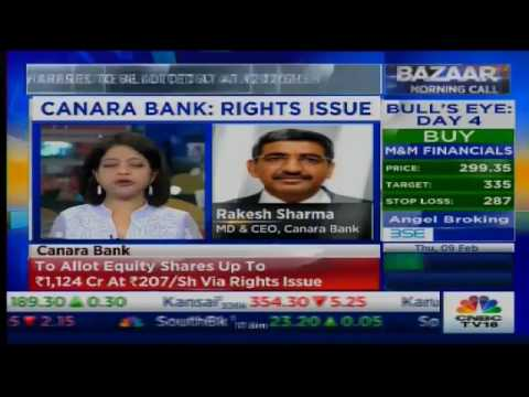 Canara Bank To Allot Equity Shares Via Rights Issue