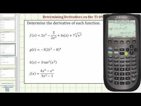 Determine Derivatives on the TI-89