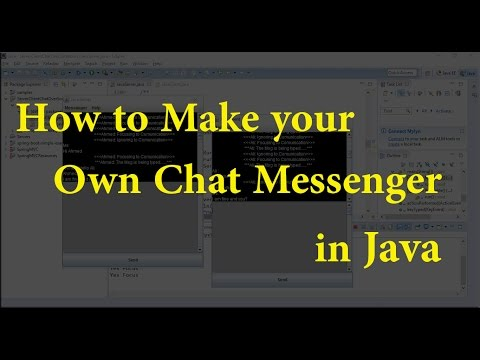 How to make own Chat Messenger in Java Project