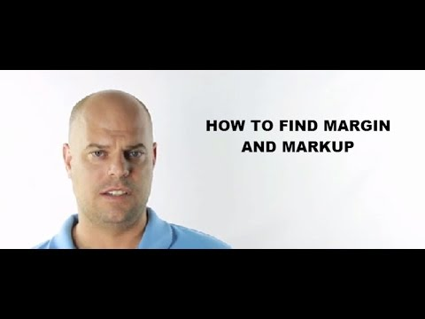 How to find margin and markup
